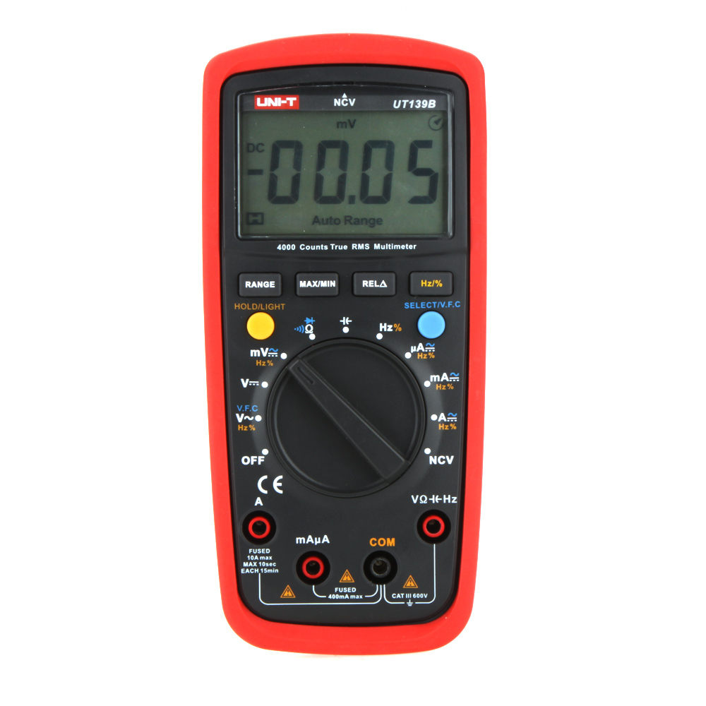 UNI-T UT139B True RMS NCV 4000 Counts DMM Digital Multimeters w/ Capacitance & Frequency Test Multimetro LCR Meter uni t ut209a true rms professional auto manual range 4000 counts 1000a digital clamp multimeters