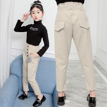 Get more info on the Children Fashion Harem Pants for Girls Spring Autumn Girl Knitted Wool Pants Kid Child Fleece Trousers Gray Beige Color 4-14 Y