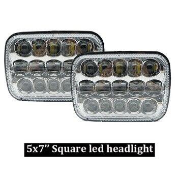 5''x7'' Led Headlights 7x6'' Hi/Low Led Sealed Beam Headlamp for Jeep Wrangler YJ Cherokee XJ Chevy S10 H4 Plug H6054 Headlight