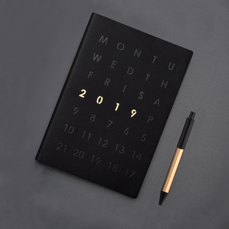 Tema 2019 del programa organizador planificador diario A5 cuaderno divisores semanal mensual Personal, diario de viaje, diario lindo Nota de negocios libros