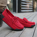 Platform Women shoes suede leather women casual shoes flat with Tassel Loafers Swing shoes Wedges Mothers shoes creepers