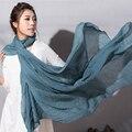 Nuevo Diseño de Color Sólido Bufanda Musulmán Bufanda Mujeres Chales Playa Diadema Populares Hijab Bufanda Chal Y Bufandas de Verano