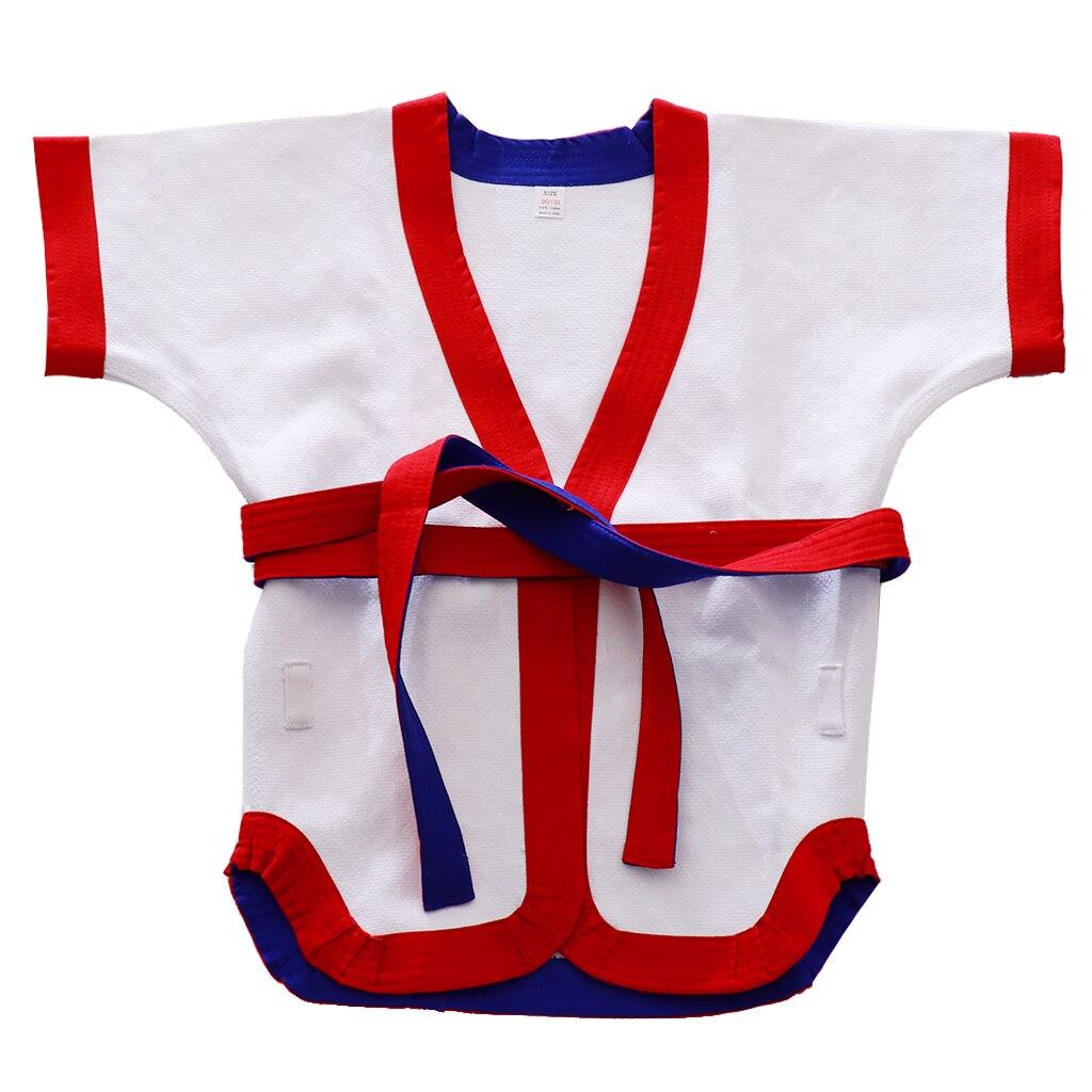 Spor ve Eğlence'ten Boks Formaları'de Hafif çin Kungfu güreş üniforma üst takım dövüş sanatları giyim kostüm erkekler kadınlar için çocuklar gençler title=