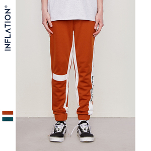 Image 5 - INFLATION Right Choice Side Letter Print Vintage Sweatpants Retro Trousers Men Track Pants Men Women Ins Fashion Pants 8841W