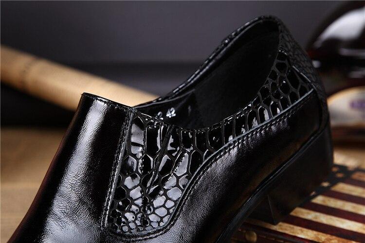 Mariage Noir Black Sur Véritable Pointu Hommes Richelieus Chaussures Kwok Appartements Mâle Robe Automne Slip Bout De En Ch Cuir Sneakers wXCnztqHw