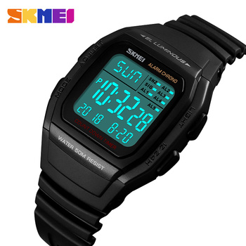 SKMEI Outdoor Men's Sport Watch Date Week Electronic Digital Watch Clock Waterproof LED Men Wrist Watches Relogio Masculino 1278 luxury men s lcd digital watches outdoor life waterproof sports clock rubber wrist watch men luxury stopwatch date clock relogio