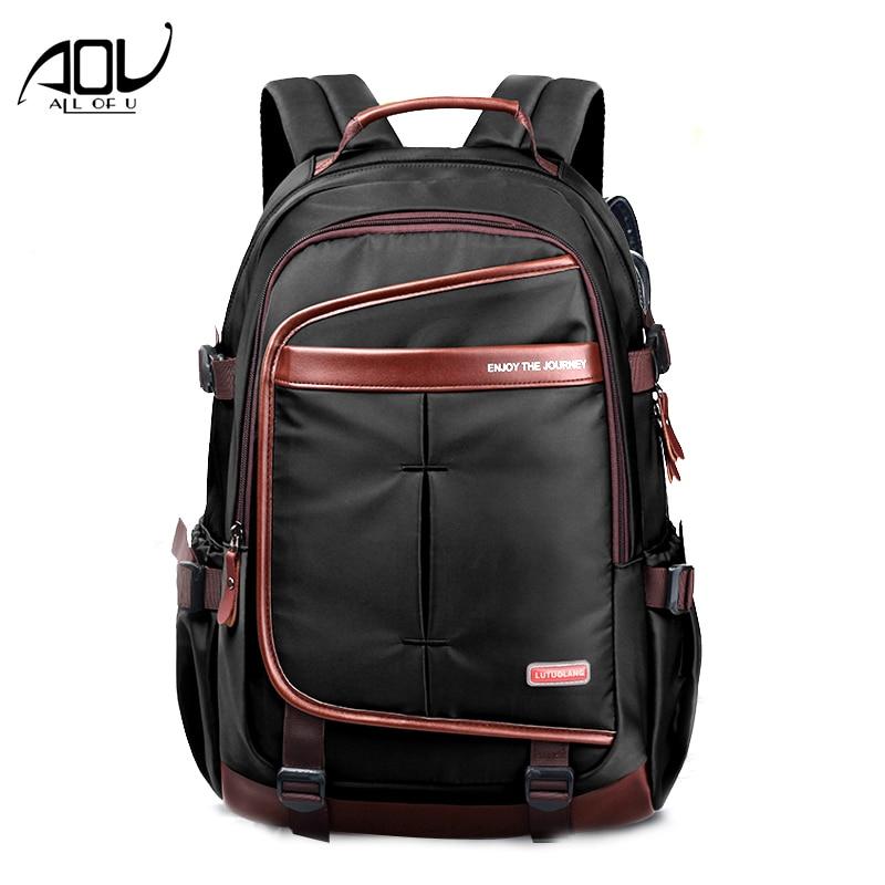 New Men Business Soft Nylon Backpack Women 15.6 inch Laptop Bags Fashion Travel Backpacks Waterproof Thicker School Mochila 2017