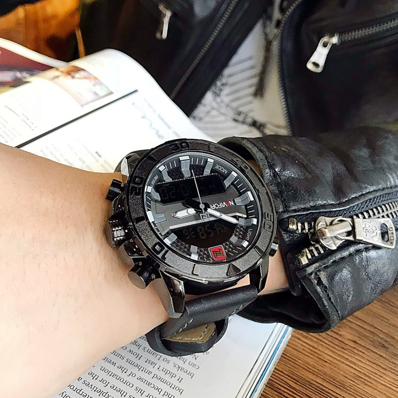 NAVIFORCE Top Brand Men's LED Military Sports Watches Fashio