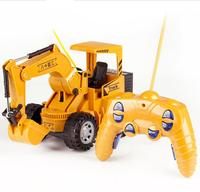 Remote Control Model of Children Yellow Simulated Engineering Truck Excavator