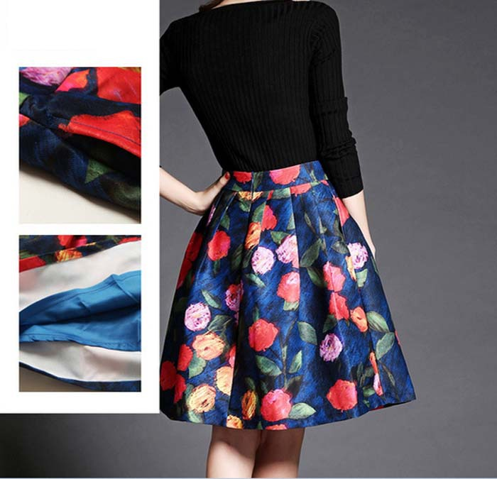 Aliexpress.com : Buy New Women Summer 2015 A line Floral Prints ...