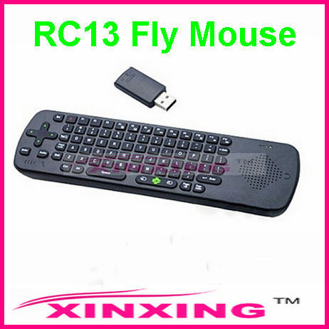 2.4G Air Fly Mouse Wireless Keyboard Remote Control for Smart TV,MID,Android TV Box,Mini PC TV Dongle,Built-in Mic Speaker RC13