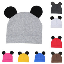 Mickey child hat cute cotton trainer ear child boy woman autumn and winter heat breathable hat W0193