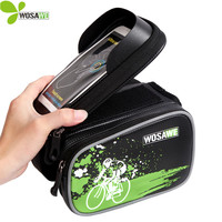 WOSAWE Waterproof Bike Accessories Bag Cycling Bags Mountain Bicycle Saddle Bag IPouch 6 0 Inch Cell