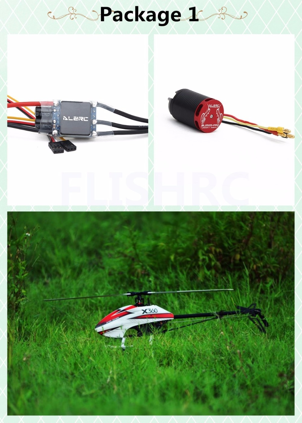 In Stock 2018 The Newest ALZRC-X360 FAST FBL KIT Helicopter (Motor +ESC) for GAUI X3 alzrc devil x360 metal radius arm set red x360 helicopter parts fit gaui x3 dx360 09ma