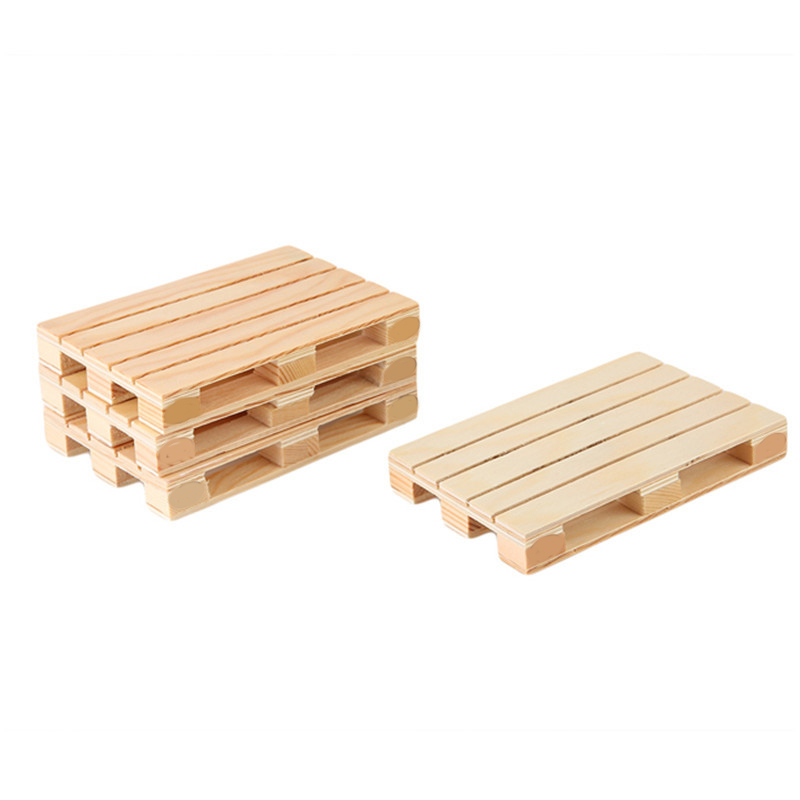 4Pcs/set Miniature Pallet Wood Beverage Coasters Drink Wine Glasses Beer Bottle Whiskey Glass Cup Mat Hot Cold Drinks Table Ma