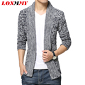LONMMY Cardigan sweater homens suéter suéteres mens jumpers roupas Grossas Moda Cardigan masculino 2016 Nova chegada