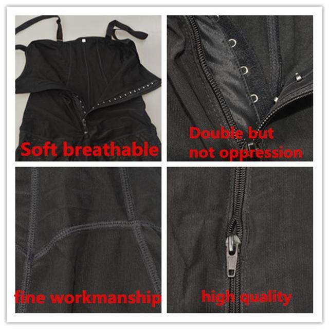 Women Shapewear Zipper Body Shaper Slimming Corset Butt Lifter With Tummy Control Black Lace Bodysuit Women Plus Size Underwear