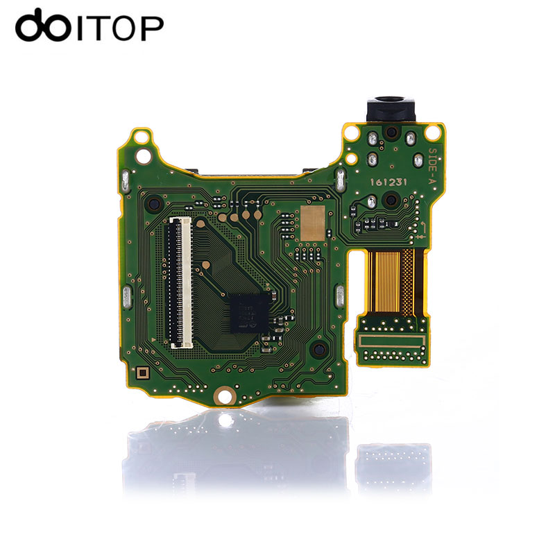 DOITOP NEW Game Card Slot with Headset Motherboard PCB Replacement Repair Parts For Nintend Switch NS Switch Game Console C4 replacement main board pc motherboard for 2019 in 1 game family pcb spare parts replace main board for 2019 in 1 multi game box