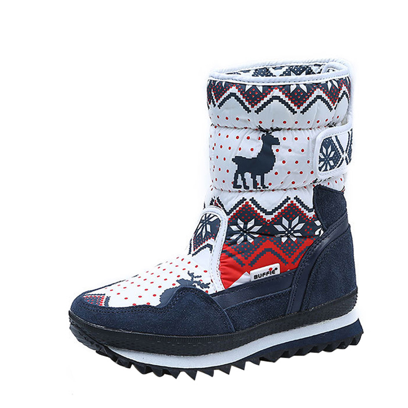 2019 New Children Snow Boots Warm Winter Boots Fashion Plush Snow Boots Boys Girls Winter Flat Shoes For Russian