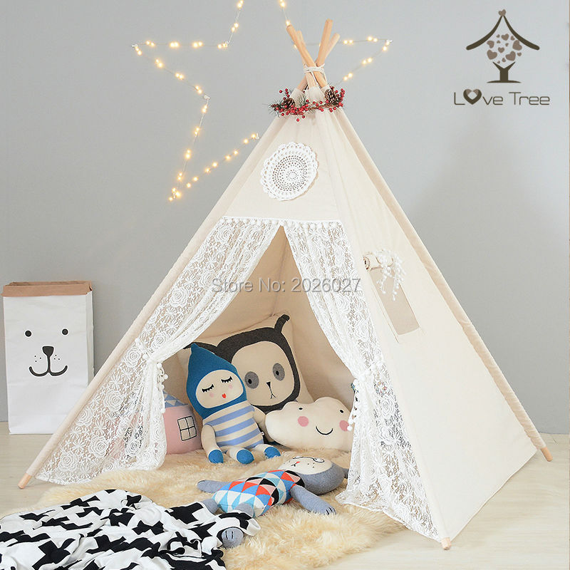 LoveTree Canvas Teepee Canopy Tent Playhouse Kids toy teepee tent Play room Indoor outdoor tourist game room teepee-in Toy Tents from Toys u0026 Hobbies on ...  sc 1 st  AliExpress.com & LoveTree Canvas Teepee Canopy Tent Playhouse Kids toy teepee tent ...