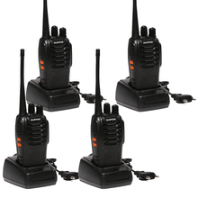 4pcs/lot Two Way Radio baofeng BF-888S Walkie Talkie Dual Band 5W Handheld Pofung bf 888s 400-470MHz UHF radio scanner