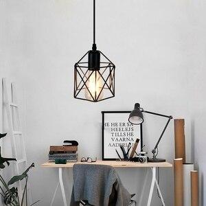Image 5 - Lampes suspendues industrielles rustiques américaines cuisine île lampe café suspension luminaires modernes lampe minimaliste nordique