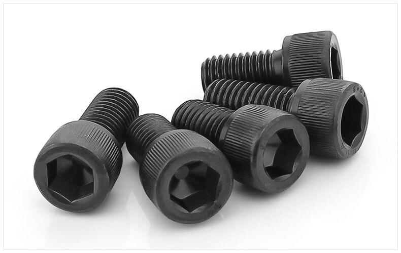DIN912 12.9 grade bolts high strength Carbon steel hex socket screws M1.4 M1.6 M2 M3 screws black twill cylindrical head bolts