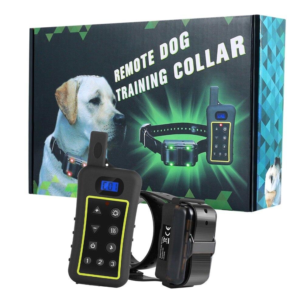 Дистанционный тренировочный ошейник для собак перезаряжаемый и водонепроницаемость, вибрация пчеловода электронный ударный ошейник для с