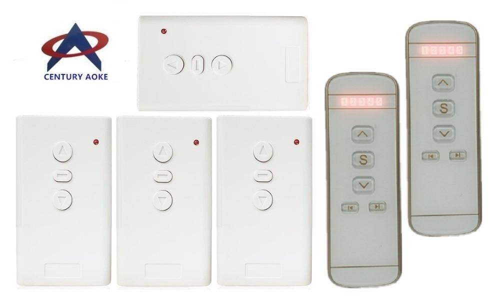 AC220V интеллектуальный цифровой 5CH RF беспроводной пульт дистанционного управления Переключатель Электрический Проектор экраны электрические шторы и башня двери гаража Пульты ДУ      АлиЭкспресс
