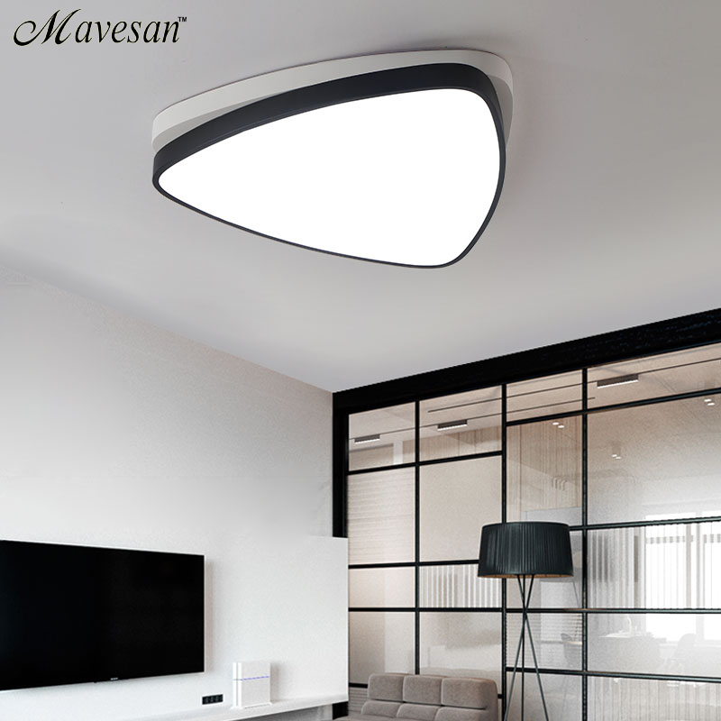 2017 Modern triangle Ceiling Light with Cool white+Warm white 36W LED flush mount led lamp for 15-20 square meters bedroom chandeliers child led ceiling modern light 220v warm white 12w ac 220v 230v ip44 pc abs disc square save energy new 2015