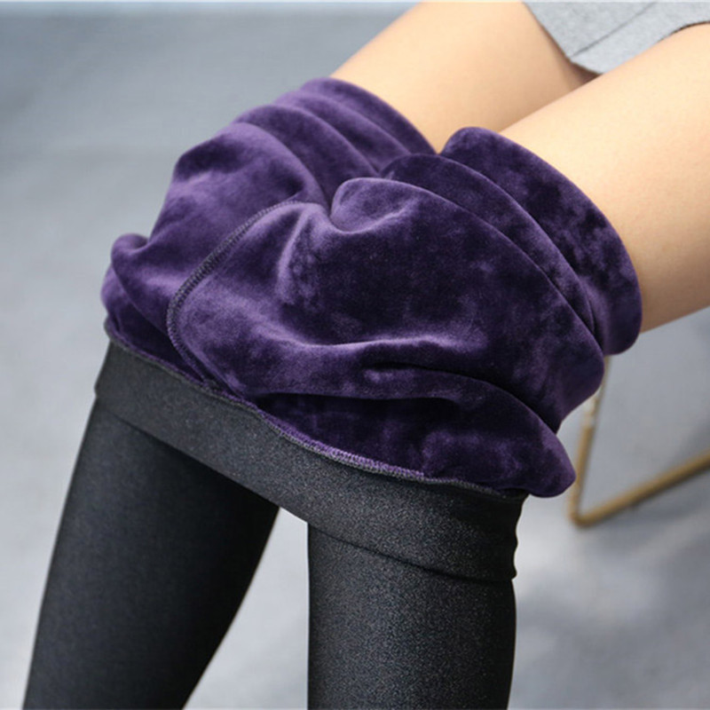 High Quality Winter Warm Women Leggings Plus Thick Velvet Mink Cashmere High Waist Glossy Pants Leggings Femme Plus Size 5XL