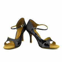 YOVE Dance Shoes PU Women's Latin/ Salsa Dance Shoes 3.5″ Slim High Heel More Color w1610-18