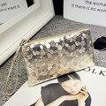 2016 Luxury Handbags Women Bags Designer GOLD COLOR party mini Clutch wallet Vintage Evening wristlet coin Purse Bolsa Feminina