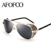 AFOOF 2016 New Fashion Gothic Steam Punk Glasses Brand Designer Vintage Summer Women Men Steampunk Sunglasses