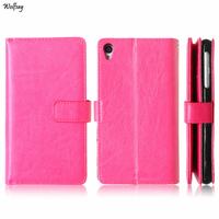 Business Case For Sony Z3 Cover Luxury Retro Flip Leather Wallet Case For Sony Xperia Z3