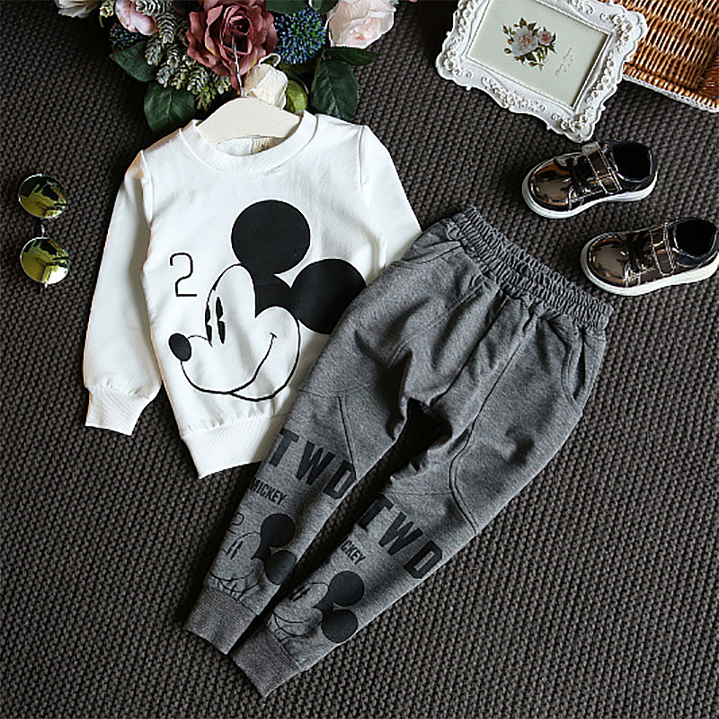 Spring And Autumn Baby Girl Sweater Children Cotton Casual Sweater Trousers two pieces suit Round Neck