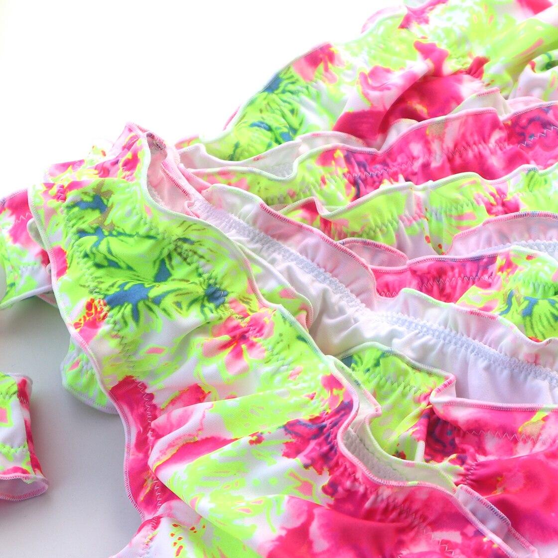 Bikini Bottoms Sexy Secret Cheeky Printing yellow Swimwear Biquini  Bikinis Swim Suit Women Brazilian Bikini Thong Bottom 2