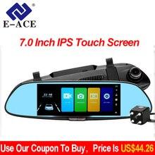 E-ACE Видеорегистраторы для автомобилей Full HD 1080 P 7,0 дюймов ips Сенсорный экран Регистраторы Двойной объектив с зеркало заднего вида Авто регистратор тире Камера