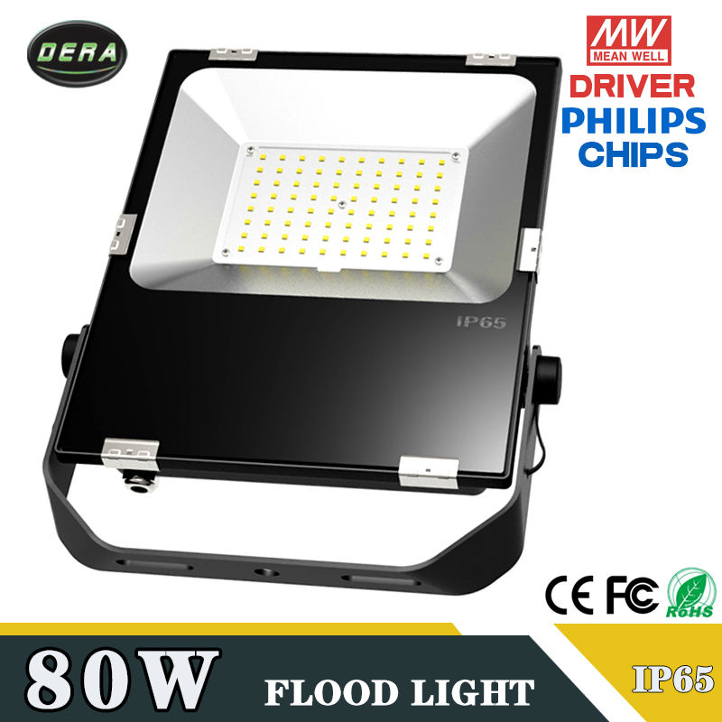 Hot selling 2017 80w 90W IP65 Waterproof Spotlight Lamp Gardden Street Outdoor Lighting Floodlight 220V 110-277v free shipping