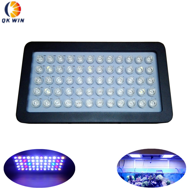 Dimmable LED Grow Light 180W Aquarium lighting coral reef 60x3w for 200 gallon tank dropshipping programmable romote 300w aquarium wireless dimmable controller phantom led light 100x3w sunrise sunset coral reef led lighting