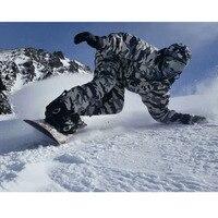 НОВЫЙ Premium Edition southplay Зимний сезон 10,000 мм Водонепроницаемый лыжи сноуборд (куртка + брюки) костюм наборы белый военный камуфляж