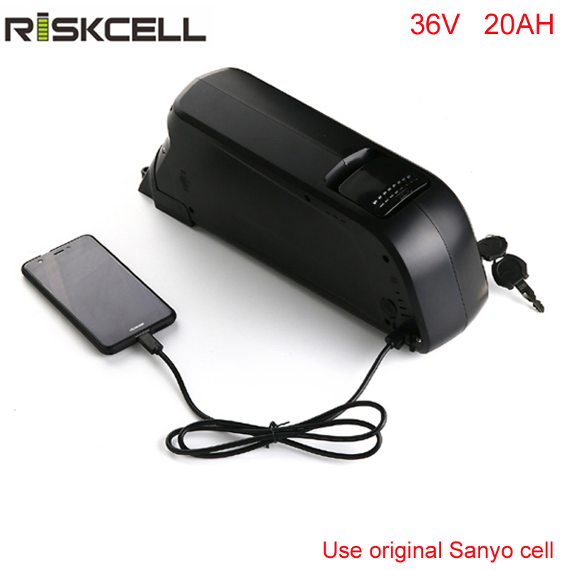 Free shipping and customs tax Sanyo electric bicycle lithium battery 36v 20ah dolphin li-ion battery pack with USB port +charger 36v 8ah lithium ion li ion rechargeable battery for electric bikes and 36v power bank free charger
