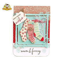 Merry Christmas Stocking Clear Stamps For Scrapbooking Seal Silicone Stamp Transparent Die Cut Album Sheets Decora