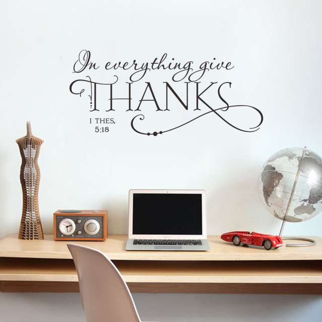 in everything give thanks christian jesus vinyl quotes wall sticker