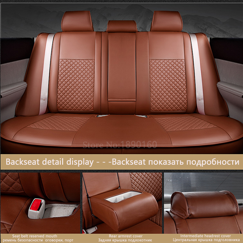 Housses de siège de voiture en cuir spécial (avant + arrière) pour - Accessoires intérieurs de voiture - Photo 6