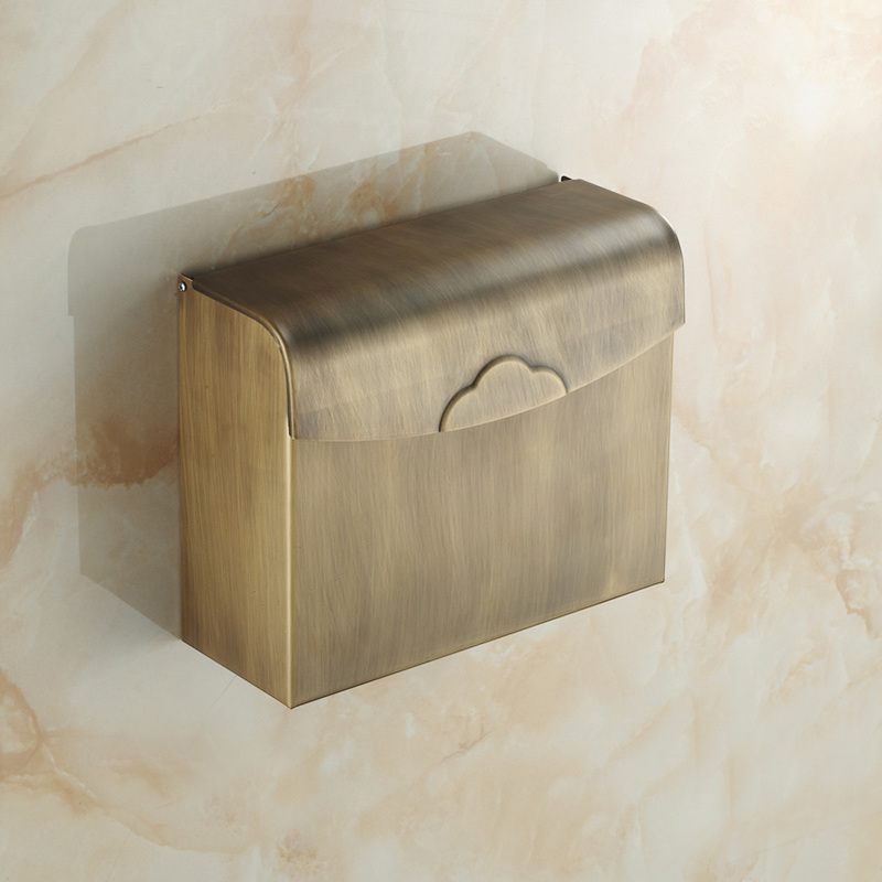 European style copper antique closed tissue box paper towel holder toilet paper holder paper holder lo821341 partol removable car tissue box car sun visor tissue paper holder cartoon auto seat back armrest hanging paper napkin container