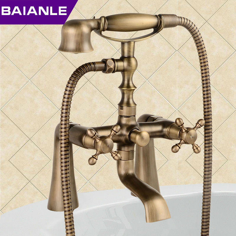 New Arrival Rain Shower Faucets with Ceramic Mixer Tap Antique Brass ...
