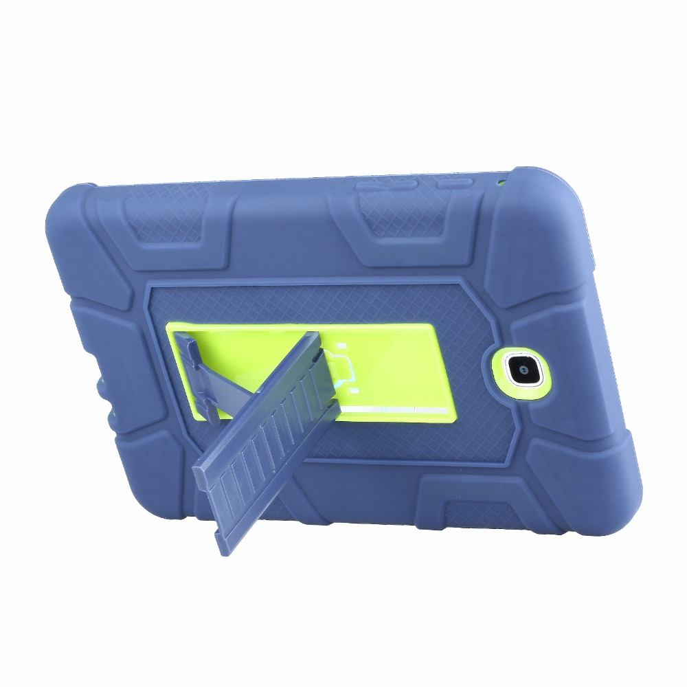 New For Galaxy Tab A 8.0 Cover Case Hybrid Rubber Plastic+Silicone Shockproof Case For Samsung Galaxy Tab A 8.0 SM-T355 SM-T350