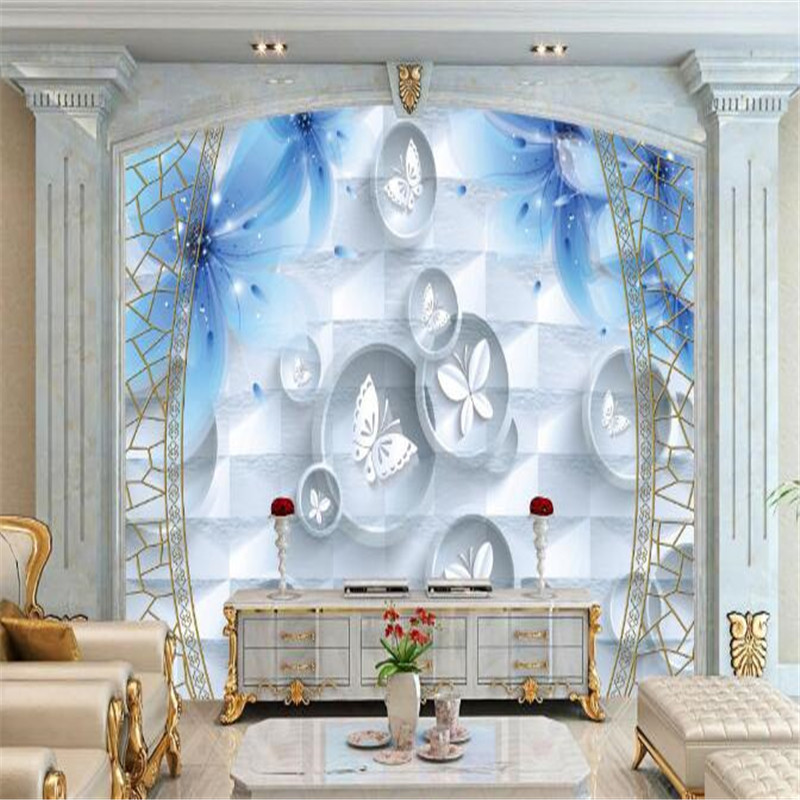 Customized Photo Wallpapers for Walls 3D Wall Murals for Living Room Wall Papers Home Decor Bedroom Backdrop Marble Painting circle mirror photo wallpapers 3d modern abstract murals wall papers home decor wallpapers for living room wall paste wall mural