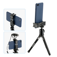 Ulanzi ST 02S Aluminum Phone Tripod Mount Rotate Vertical Horizontal Phone Holder Clamp w Cold Shoe Mount for iPhone X 8 7 Plus